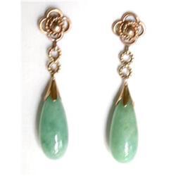 Vintage Green Jadeite Earrings #2365508