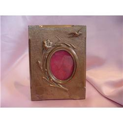 Victorian Bronze Picture Frame with Bird #2365511