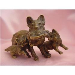 Austrian Vienna Bronze Fox Family #2365512