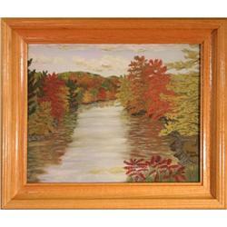 """""""Going Upstream"""" by Eddie Smith - landscape oil#2365514"""