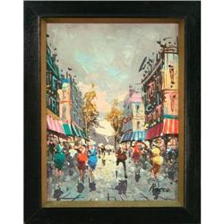 Street scene painting impressionist Rocco #2365519