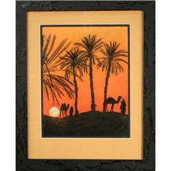 Desert Nomads, Chalk Pastel by R. Brown #2365525