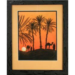 Desert Nomads, Chalk Pastel by R. Brown #2365525