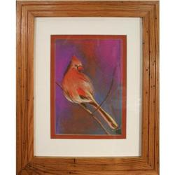 Colorful Bird, Original Pastel by R. Brown #2365528