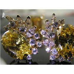RHJ Brilliant Canary Cubic Zirconium Earrings #2365539