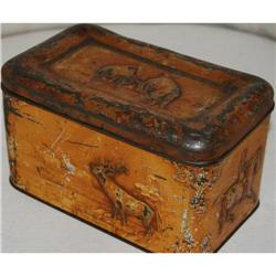Antique Carr & Co. Hunting Biscuit Tin, c. 1900#2375530