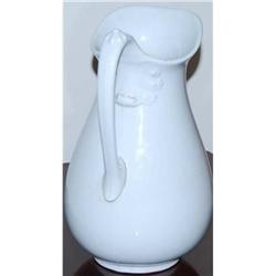 White Ceramic Pitcher Royal Ironstone China #2375542