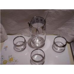 Libbey Cocktail Set Lusterware Trim #2375548