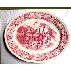 "Platter 12"" red Historical America - Homer #2375555"
