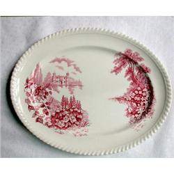 "Platter 12"" red Johnson ""Castle on the Lake"" #2375556"