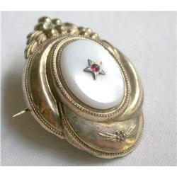 Victorian pin, gold top, small with Mother of #2375562