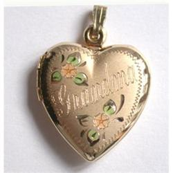 Gold Filled Heart Locket for Grandma #2375574