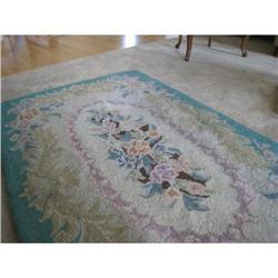 Vintage Wool Hooked Rug #2375592