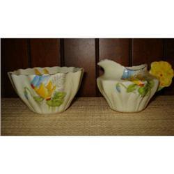 ROYAL PARAGON FLOWER HANDLE CREAMER & SUGAR #2375600