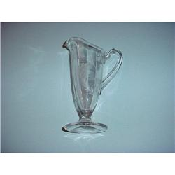 pitcher, with artistic etchings #2375611
