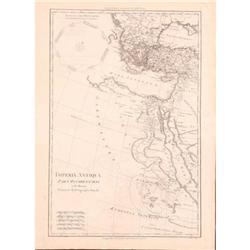 Antique Map Imperia Antiqua Asia Bonne 1787 #2375620