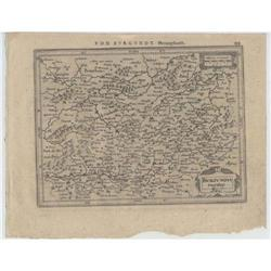 Map Burgundy France Mercator Jansson 1634 #2375624