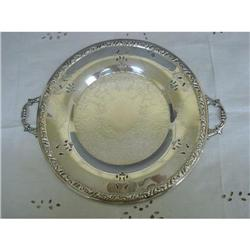 ANTIQUE SILVER PLATED SERVING PLATTER #2375651