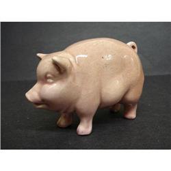ANTIQUE ADORABLE PINK PIG - FIGURINE  #2375653