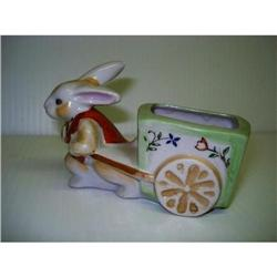 FIGURAL HAND PAINTED TOOTHPICK HOLDER #2375657