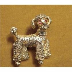 PRECIOUS PET - GOLD TONE POODLE BROOCH #2375658