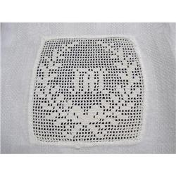 BEAUTIFUL DAMASK TOWEL - LACE INSERT with #2375662