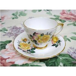 ENGLISH CHINA CUP&SAUCER  - YELLOW ROSE #2375669