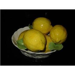 Italian porcelain basket of Lemon mkd. #2375680