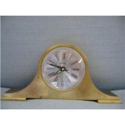 Bulova brass art deco desk clock!  #2375686