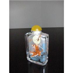 Interior painted Snuff Bottle jade color topr! #2375691