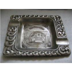 San Fransisco Cable Car Pewter Ashtray! #2375694