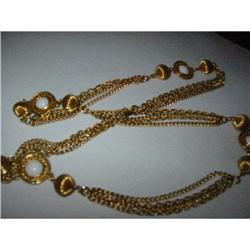 Golden Chain Necklace,w white summer beads! #2375704