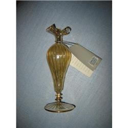 Honiton Glass Vase hand crafted gold color!  #2375707