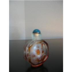 Pecking glass overlay snuff bottle ! #2375718