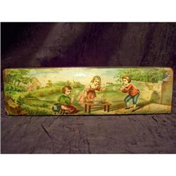 Early Century Antique Wooden Pencil Box #2375723