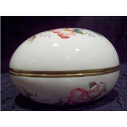 Burleigh Ware Porcelain Hand Painted Egg Box #2375728