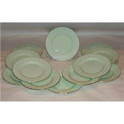 Set of 12 Minton B&B Plates Shell Green #2375730