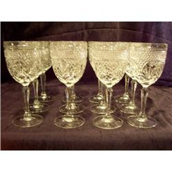Diamond Cut Crystal Goblets Set of 12 #2375738