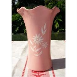 Large Pink Star Flower Vase 566 By Abingdon #2375746