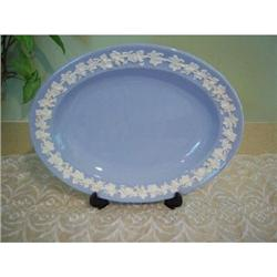 Wedgwood Queen's Ware White on Blue Platter #2375747