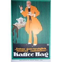 1914 German Print - Kaffee Hag, Oppenheim #2375796