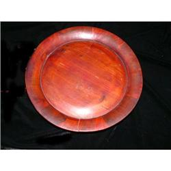 Qing Dynasty Plate Chinese Fir  Wood  Plate  #2375802
