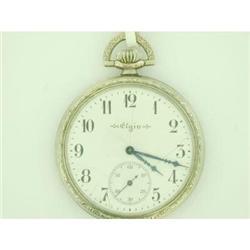 Antique Gold Filled Elgin 17J Pocket Watch  #2375809