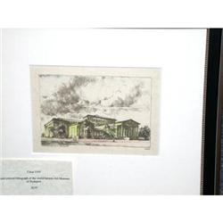 Antique Lithograph of Budapest Museum #2375820