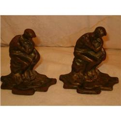 Thinker bookends cast iron or metal #2375830