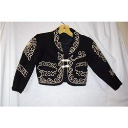 Vintage Childs Black & White Charro Jacket #2375832