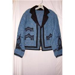 Vintage Blue Wool Guatemala Jacket #2375833