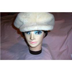 Vintage Sheepskin 1960's Newsboy Hat #2375835