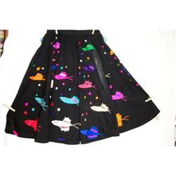 Vintage Taxco Embroidered Mexican Skirt #2375836