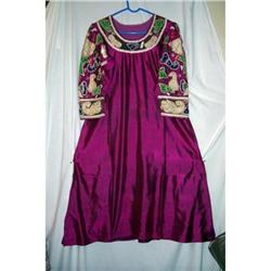 Vintage Mexican Silk/Glass Beaded Dress #2375839